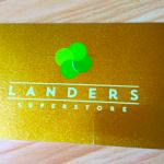 セブ島の発展スピード上がってキテ〜る。巨大スーパーのLANDERS(ランダース)会員になったよ。